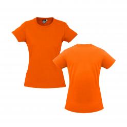 Ladies Fluro Orange Custom Tee