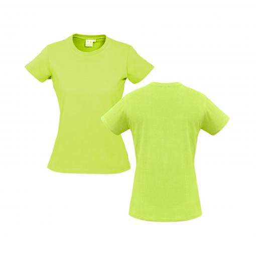 Ladies Fluro Yellow Lime Custom Tee