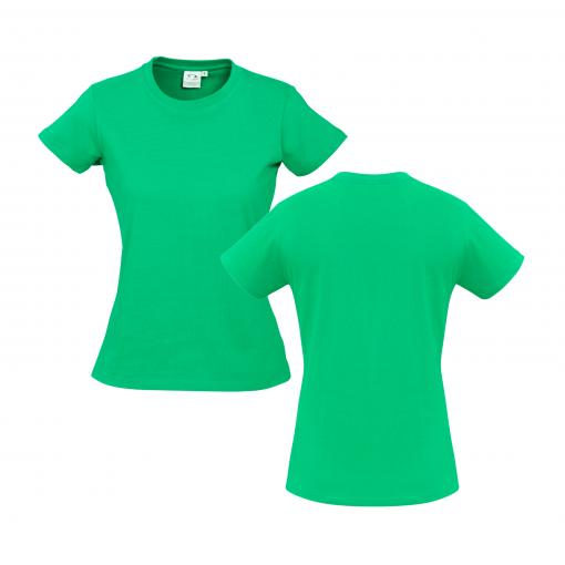 Ladies Neon Green Custom Tee