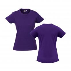 Ladies Purple Custom Tee