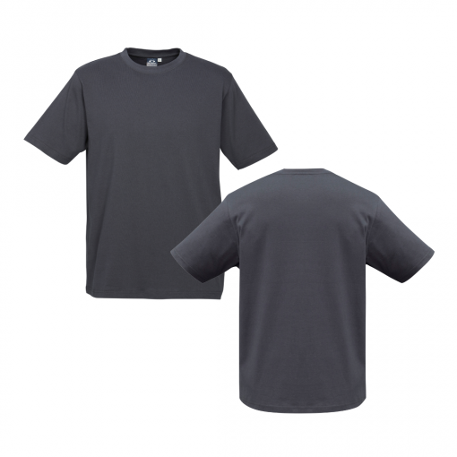 Mens Charcoal Custom Tee Your Choice of Design or Logo