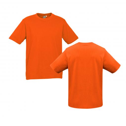 Mens Fluro Orange Custom Tee Your Choice of Design or Logo