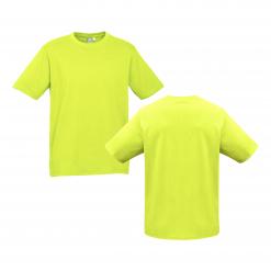Mens Fluro Yellow Lime Custom Tee Your Choice of Design or Logo