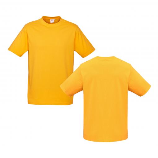 Mens Gold Custom Tee Your Choice of Design or Logo