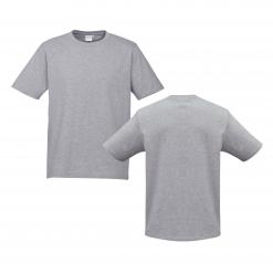 Mens Grey Marle Custom Tee Your Choice of Design or Logo