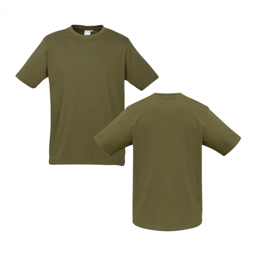Mens Khaki Custom Tee Your Choice of Design or Logo
