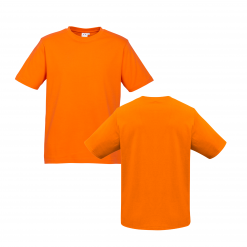 Mens Orange Custom Tee Your Choice of Design or Logo