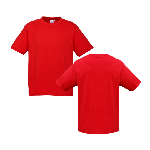 Mens Red Custom Tee Your Choice of Design or Logo