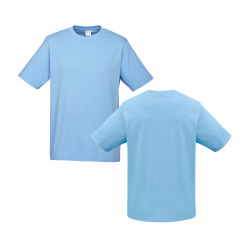 Mens Spring Blue Custom Tee Your Choice of Design or Logo