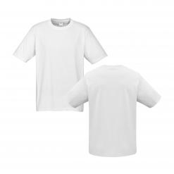 Mens White Custom Tee Your Choice of Design or Logo