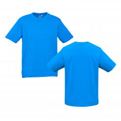 Unisex Kids Neon Cyan Custom Tee Your Choice of Logo or Design