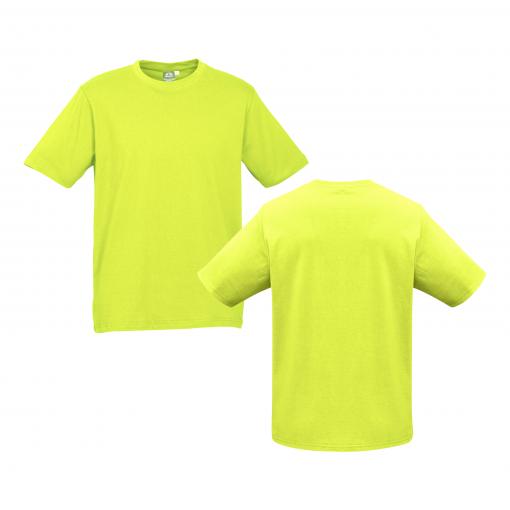 Unisex Kids Fluro Yellow Lime Custom Tee Your Choice of Logo or Design