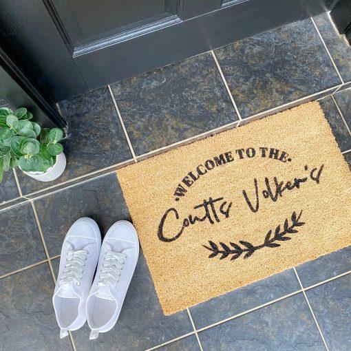 Custom Family Name Doormat