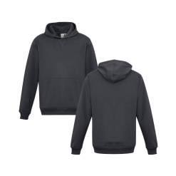 Kids Charcoal Hoodie Front & Back