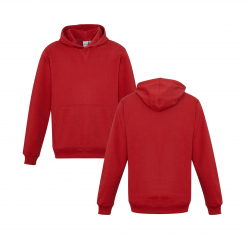 Kids Red Hoodie Front & Back