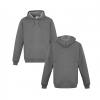 Grey Marle Hoodie Front & Back