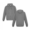 Grey Marle Zippered Jacket with Hood Front & Back