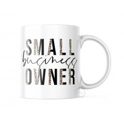Leopard Small Business Owner Mug 11oz or 325ml Ceramic Dishwasher Safe Mug