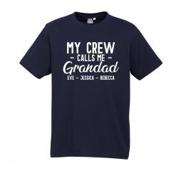 My Crew Call Me Grandad Navy Tee with White Design