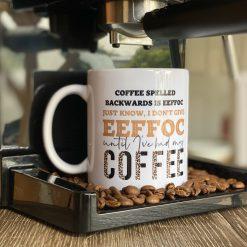 I don't give eeffoc coffee mug 11oz ceramic coffee mug, microwave & dishwasher safe