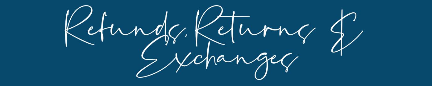 Refunds Returns & Exchanges for Rebecca Jane Singh Design
